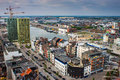 Aerial view of antwerp belgium Stock Images