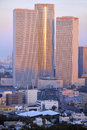 Aerial view of Azrieli Center. Stock Photos