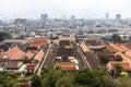 Aerial view of Bangkok from Wat Saket