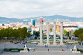 Aerial view of Barcelona from National Palace,September 21 2012 Royalty Free Stock Image