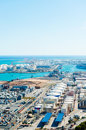 Aerial view of the Barcelona port Royalty Free Stock Photos