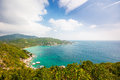 Aerial view of the beach tropical island koh tao thailand Stock Photography