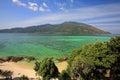 Aerial view beach turquoise crystal andaman sea against blue sky koh lipe satun thailand Royalty Free Stock Image