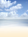 Aerial view of the beautiful blue sky and the sea a landscape summer background Stock Images