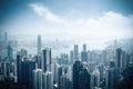 Aerial view of beautiful hongkong Royalty Free Stock Photos