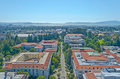 Aerial View of Berkeley University Campus and San Francisco Bay Royalty Free Stock Photo