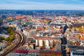 Aerial View of Berlin Royalty Free Stock Photography
