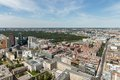 Aerial view of berlin with potsdamer platz and public park tiergarten german Royalty Free Stock Photography