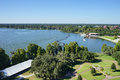 Aerial view of a big lake in lakeland, Florida Royalty Free Stock Photo