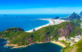 Aerial view of Botafogo, Copacabana and Ipanema beach in Rio de Janeiro, Brazil Royalty Free Stock Photo