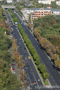 Aerial view of a boulevard in bucharest romania Royalty Free Stock Photo