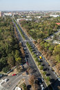 Aerial view of a boulevard in bucharest romania Royalty Free Stock Photography