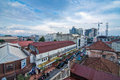Aerial view of braga street bandung west java indonesia Royalty Free Stock Photo