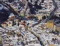 Aerial view of Brasov city