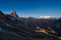 Aerial View Of Breuil Cervinia...
