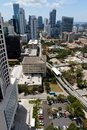 Aerial view of the brickell area of miami fl usa Stock Images