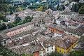 Aerial view of brisighella olf roofs italy Stock Photo