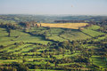 Aerial View of British Countryside Stock Photos