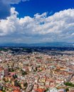Aerial view of the city of Naples, Italy