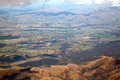 Aerial view of Canterbury New Zealand Royalty Free Stock Photos