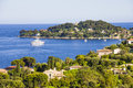 Aerial view of cap ferrat french riviera saint jean Royalty Free Stock Images