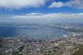 Aerial view of cape town from table mountain south africa Royalty Free Stock Photo