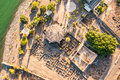 Aerial view of capernaum galilee israel town jesus Royalty Free Stock Photography