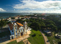 Aerial view of Carmo church in Olinda, Pernambuco, Brazil Royalty Free Stock Photo