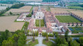 Aerial view of the Certosa di Pavia, the monastery and shrine in the province of Pavia, Lombardia, Italy