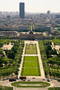 Aerial view on the Champs de Mars Royalty Free Stock Photos