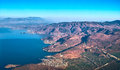 Aerial view of changshan mountain and erhai lake Royalty Free Stock Photo