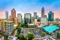 Aerial view of Charlotte, NC skyline