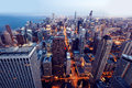 Aerial view of Chicago downtown Stock Photography
