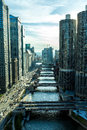 Aerial view of Chicago downtown in Illinois, USA Royalty Free Stock Photo