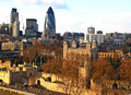 Aerial view of City of London Royalty Free Stock Images