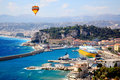 Aerial view of the city of Nice France Stock Images