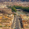 Aerial view of city rome italy Royalty Free Stock Photo