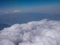 Aerial view clouds over andes mountains in cusco peru Royalty Free Stock Photography