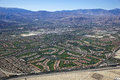 Aerial view of the Coachella Valley, California Royalty Free Stock Photos