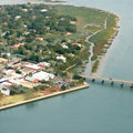 Aerial view of coastal town Royalty Free Stock Photography