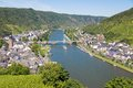 Aerial view at Cochem and river Moselle Stock Photos