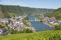 Aerial view at Cochem and river Moselle