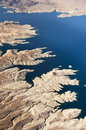 Aerial view of the Colorado River and Lake Mead Royalty Free Stock Photo