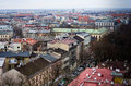 Aerial view of Cracow Poland Royalty Free Stock Photo