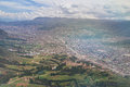 Aerial view on Cusco city Royalty Free Stock Photo