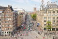 Aerial view of the Dam square, Amsterdam Stock Image