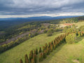 Aerial View of Dandenong Ranges Royalty Free Stock Photo