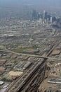 Aerial View of Denver, Colorado Royalty Free Stock Photo