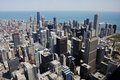 Aerial view of downtown Chicago Stock Photos