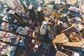 Aerial view of a Downtown LA Royalty Free Stock Photo